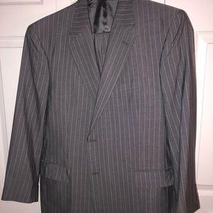 Jos A Banks Gray Pinstripe Suit